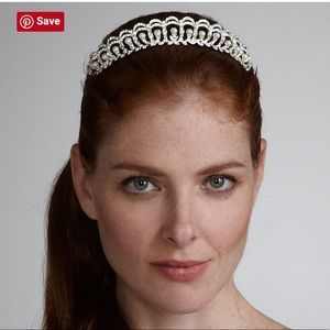 David's Bridal Pearls Crystals Tiara / Crown